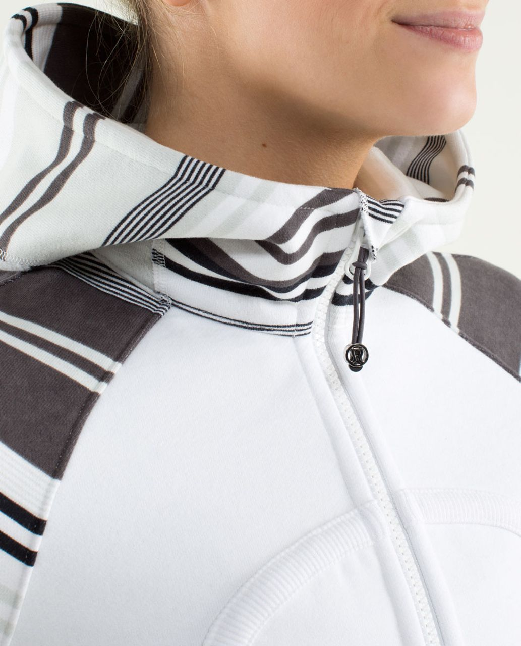 Lululemon Scuba Hoodie *Stretch (Lined Hood) - White / Groovy Stripe Nimbus