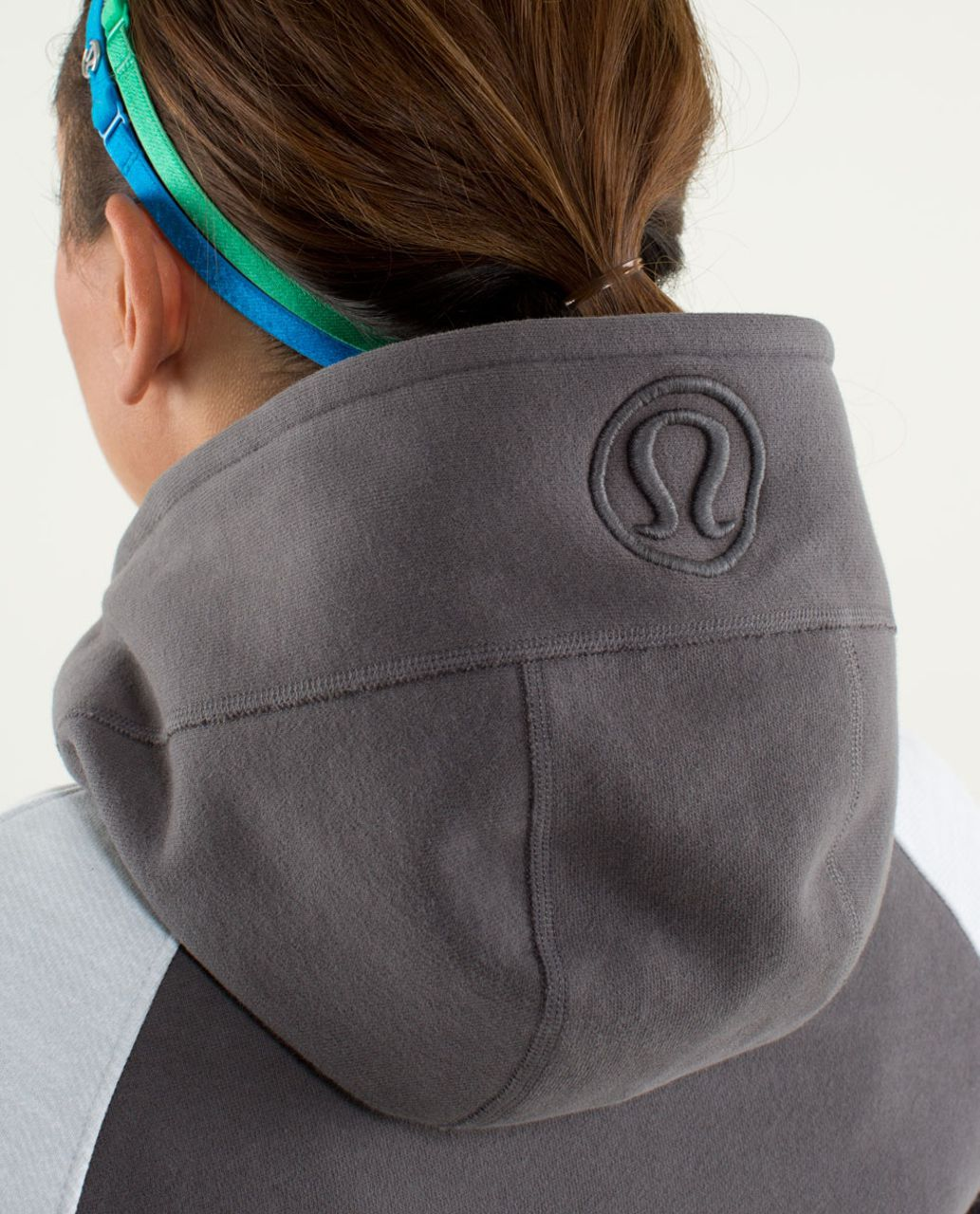 Lululemon Scuba Hoodie *Stretch (Lined Hood) - Soot Light / Commuter Denim