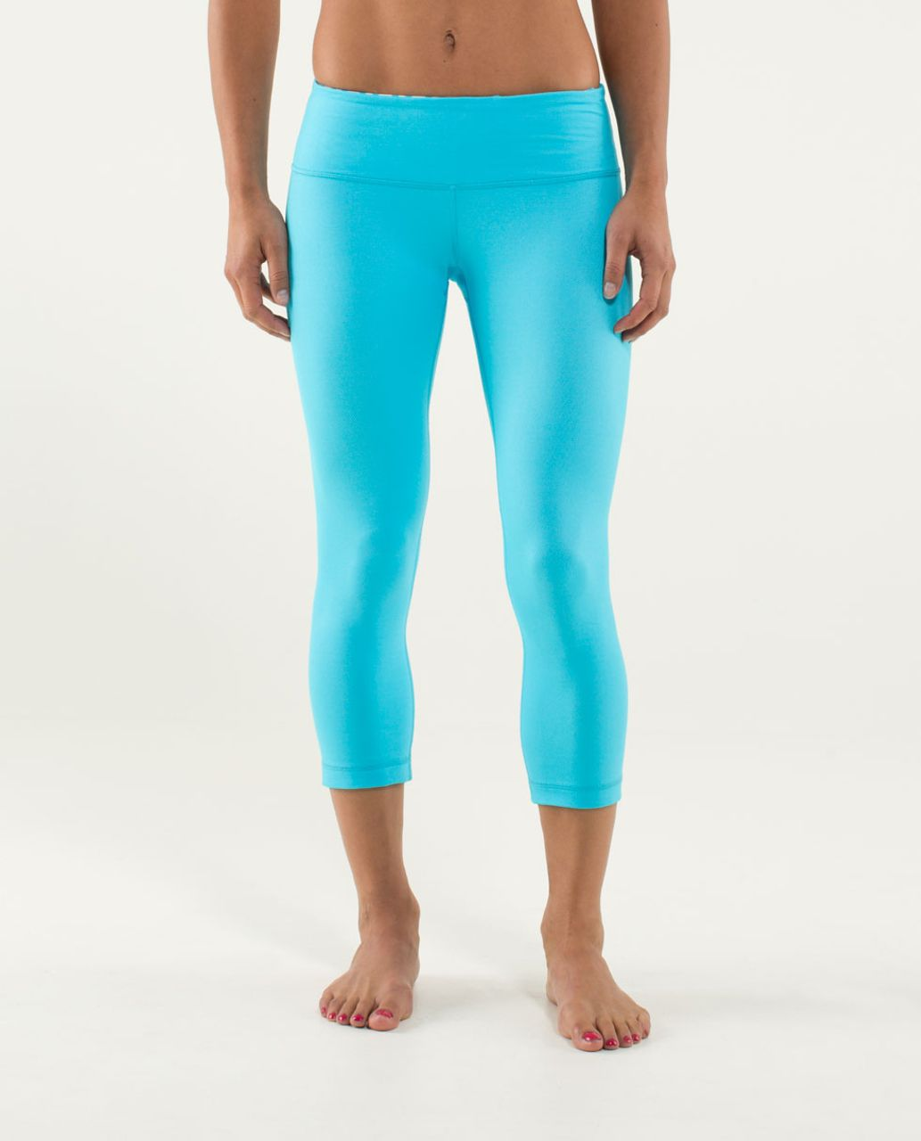 Lululemon Wunder Under Crop *Denim - Spry Blue / Twin Stripe Spry Blue