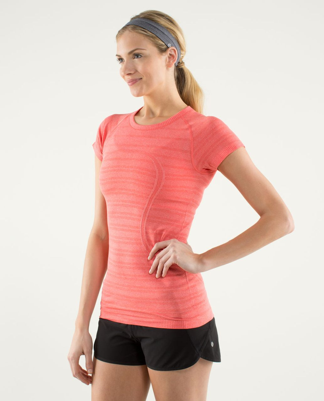 Lululemon Run:  Swiftly Tech Short Sleeve - Love Red