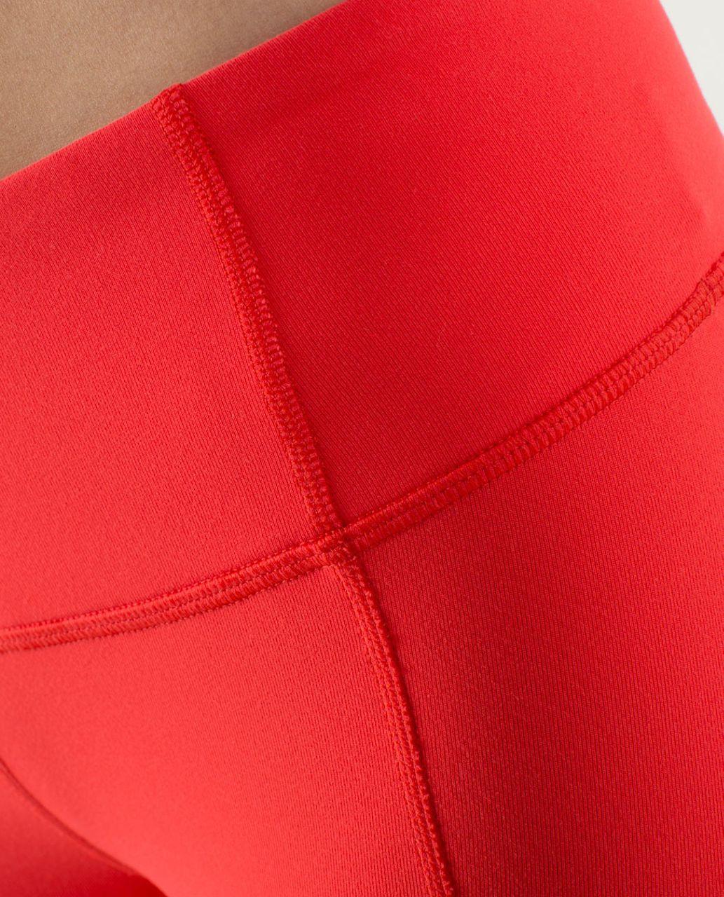 Lululemon Gather & Crow Crop - Love Red / Twin Stripe Love Red