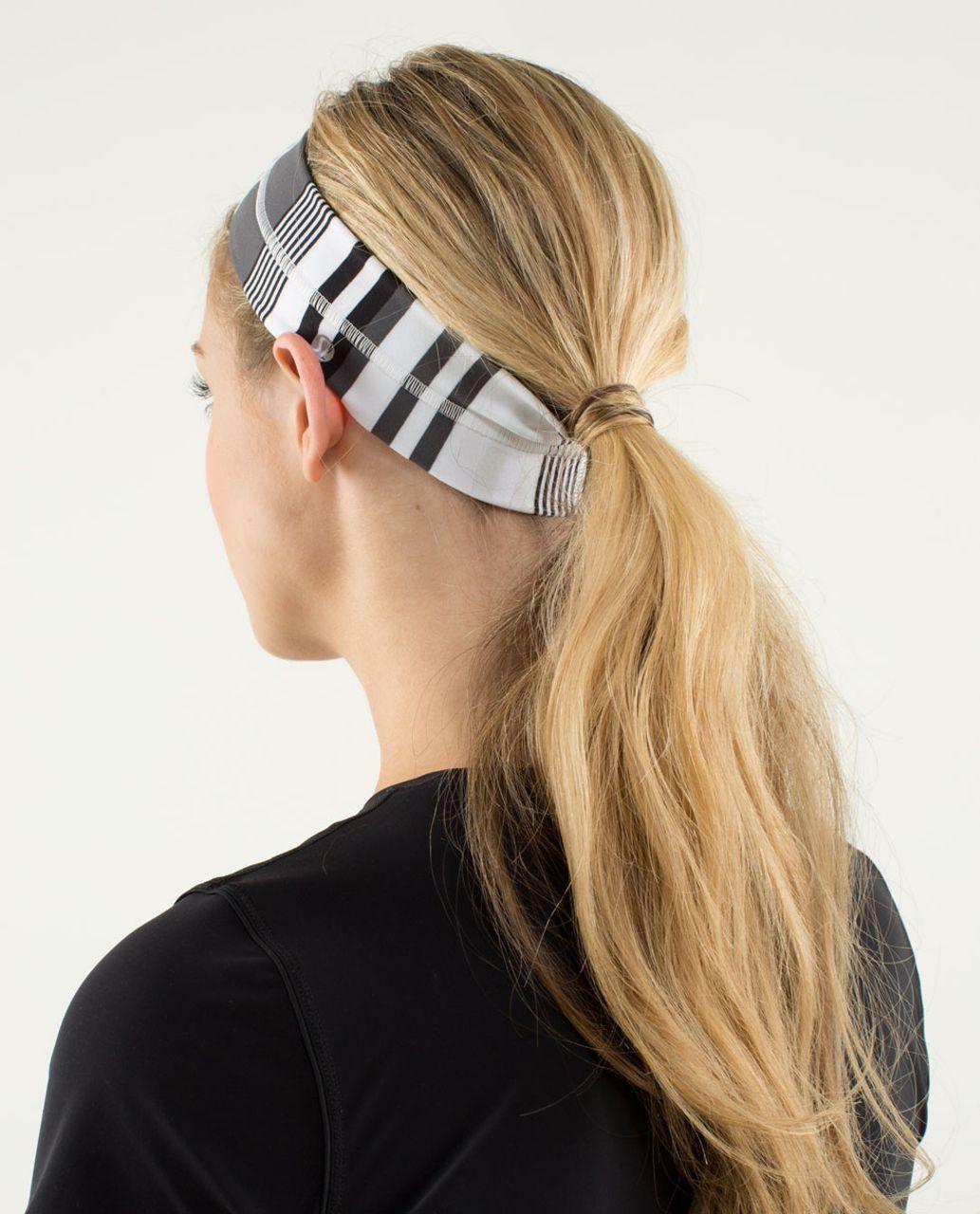 Lululemon Fly Away Tamer Headband - Groovy Stripe Nimbus