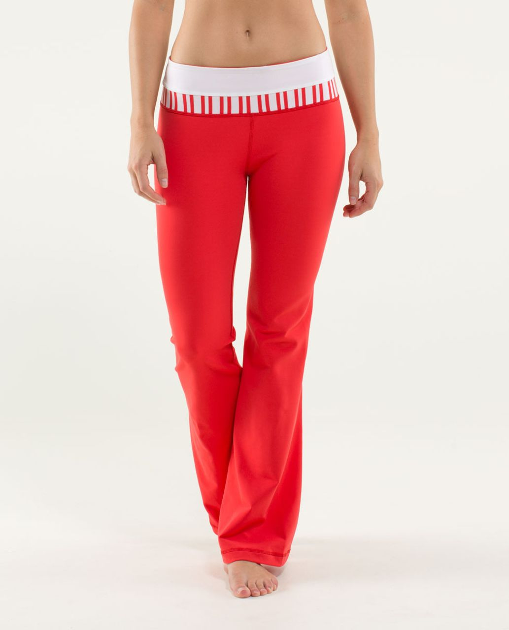Lululemon Groove Pant (Regular) - Love Red / White / Twin Stripe Love Red