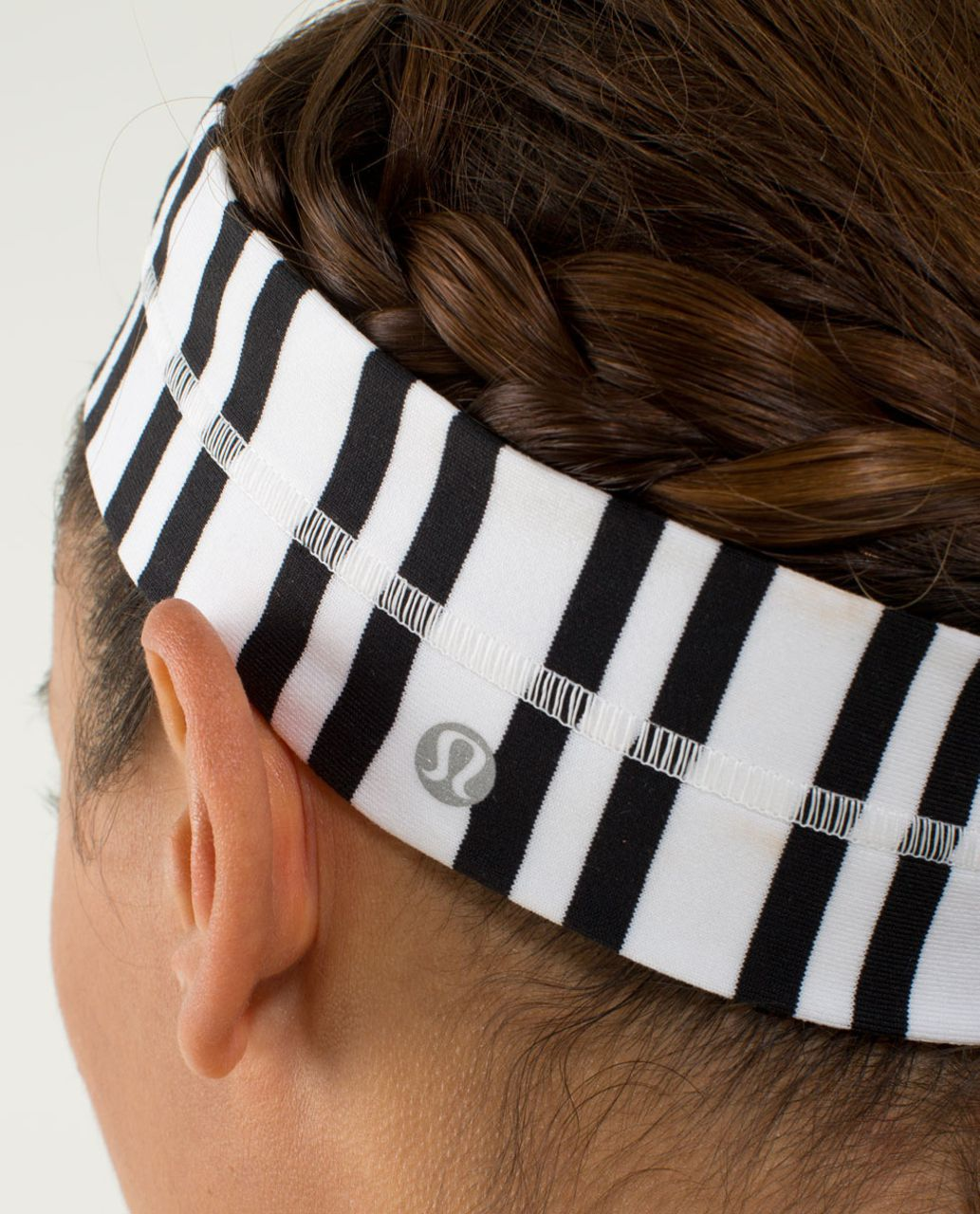 Lululemon Fly Away Tamer Headband - Twin Stripe Black