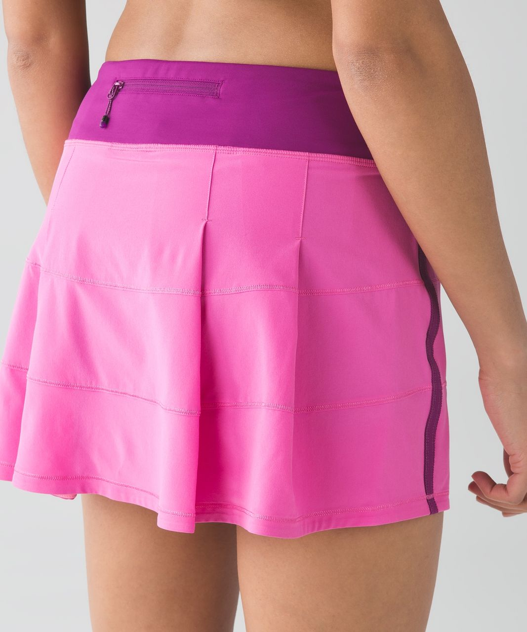 Lululemon Pace Rival Skirt II (Tall) - Pink Paradise / Regal Plum