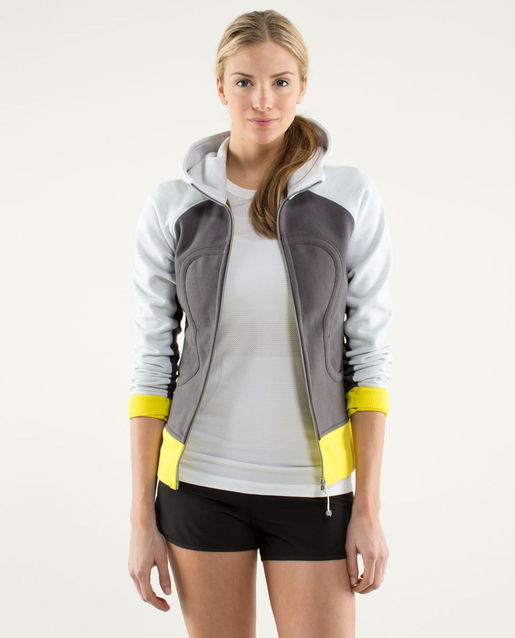 Lululemon Scuba Hoodie *Stretch (Lined Hood) - Soot Light / Commuter Denim / Sizzle