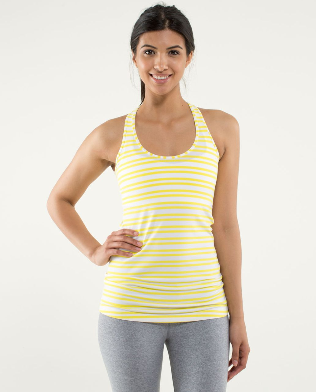 Lululemon Cool Racerback - Twin Stripe Sizzle
