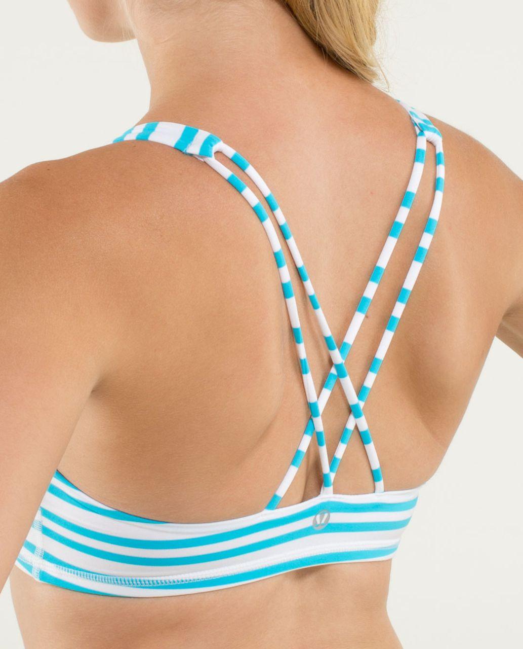 Lululemon Free To Be Bra - Twin Stripe Spry Blue