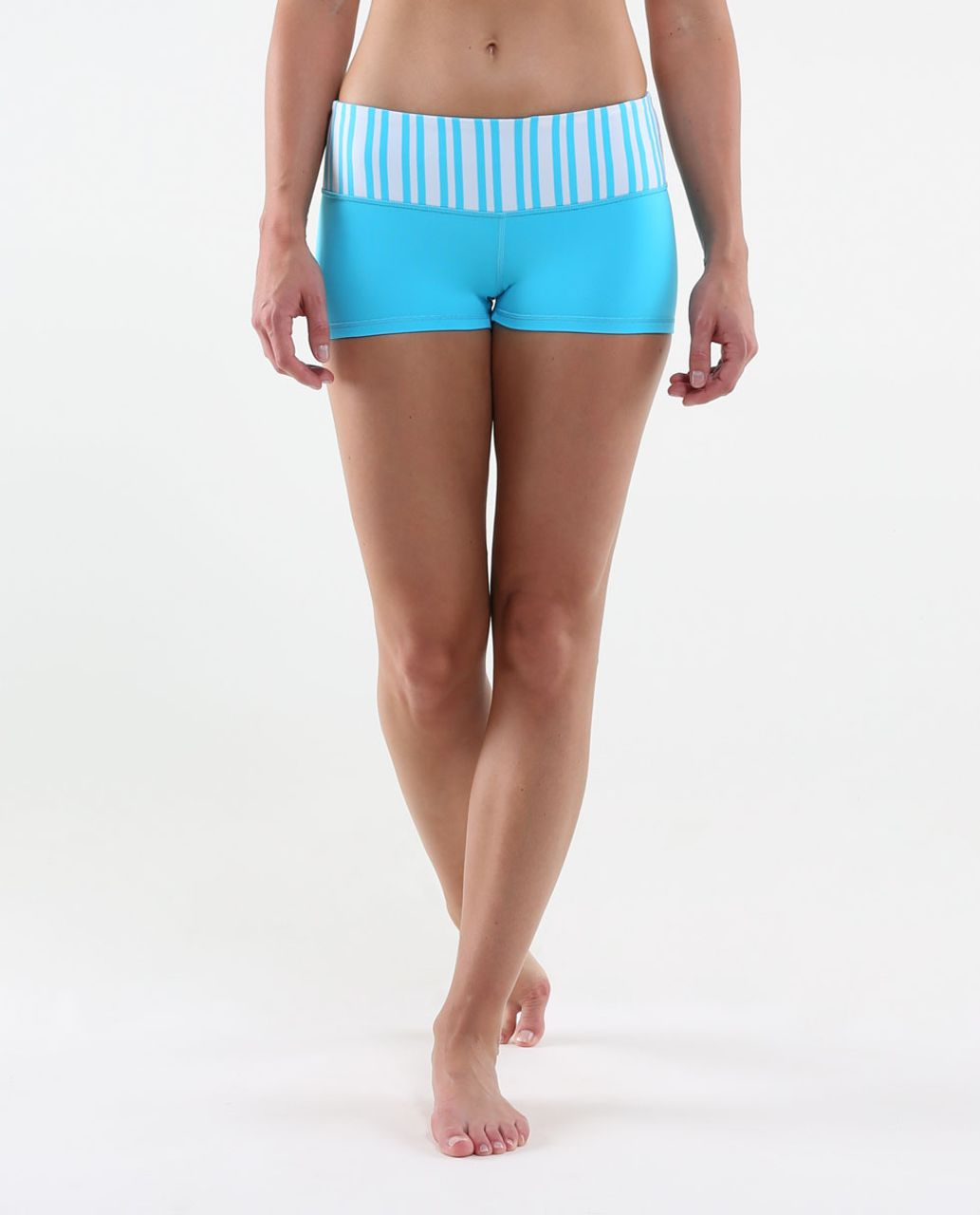 Lululemon Boogie Short - Spry Blue / Twin Stripe Spry Blue