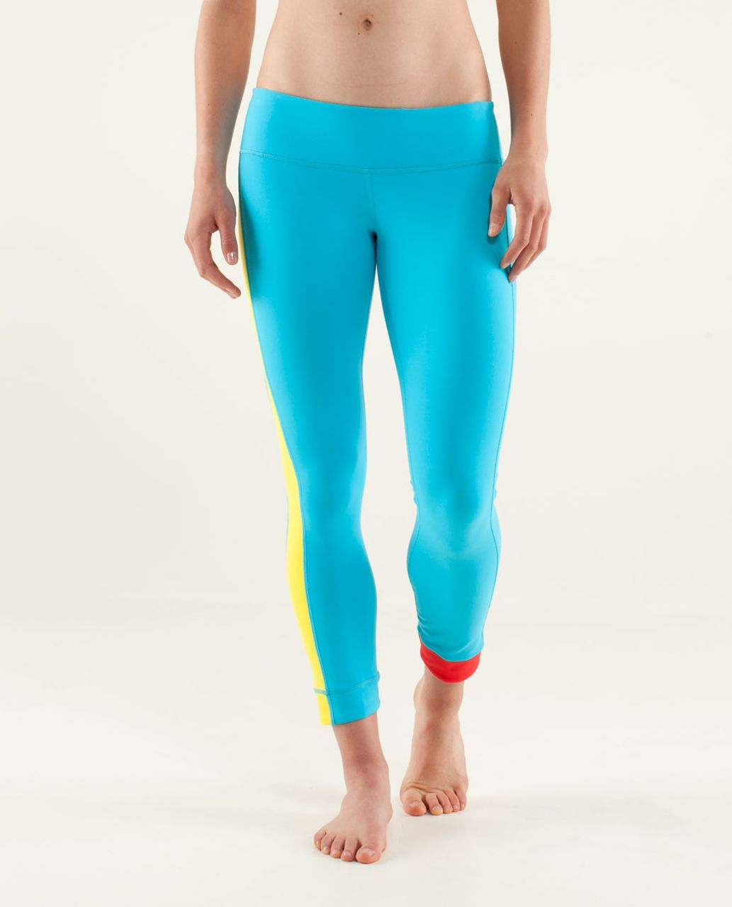 Lululemon Amped Crop - Spry Blue / Sizzle / Love Red