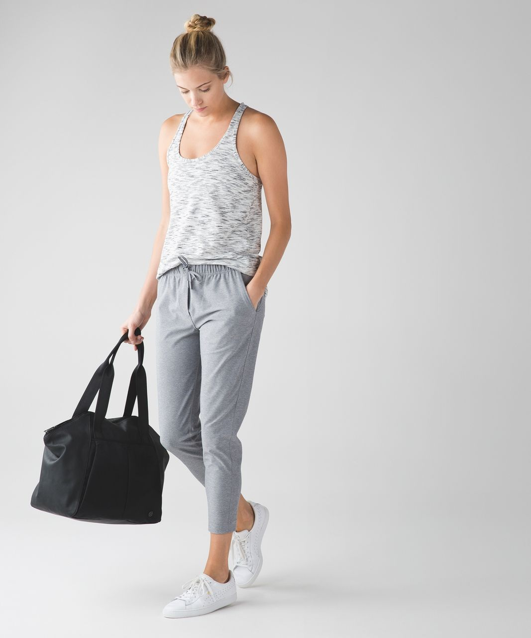 Lululemon Jet Crop (Slim) *Luxtreme - Heathered Battleship