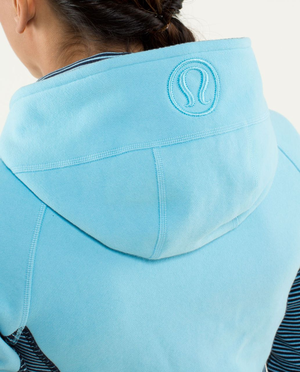 Lululemon Scuba Hoodie *Stretch (Lined Hood) - Blue Moon / Hyper Stripe Printed Blue Moon