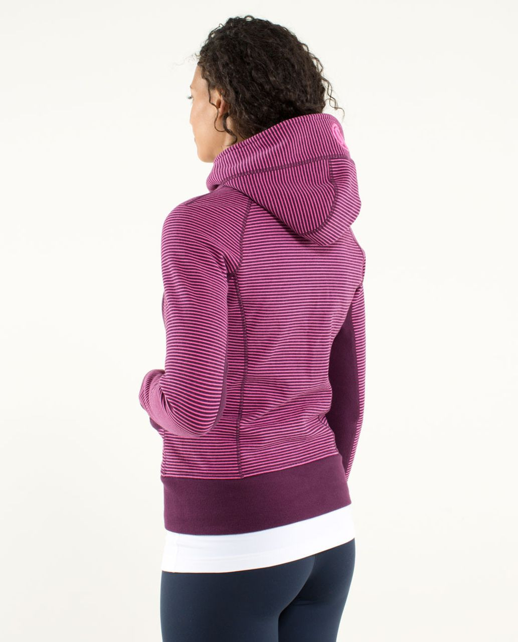 Lululemon Scuba Hoodie *Stretch (Lined Hood) - Hyper Stripe Printed Afterglo / Plum