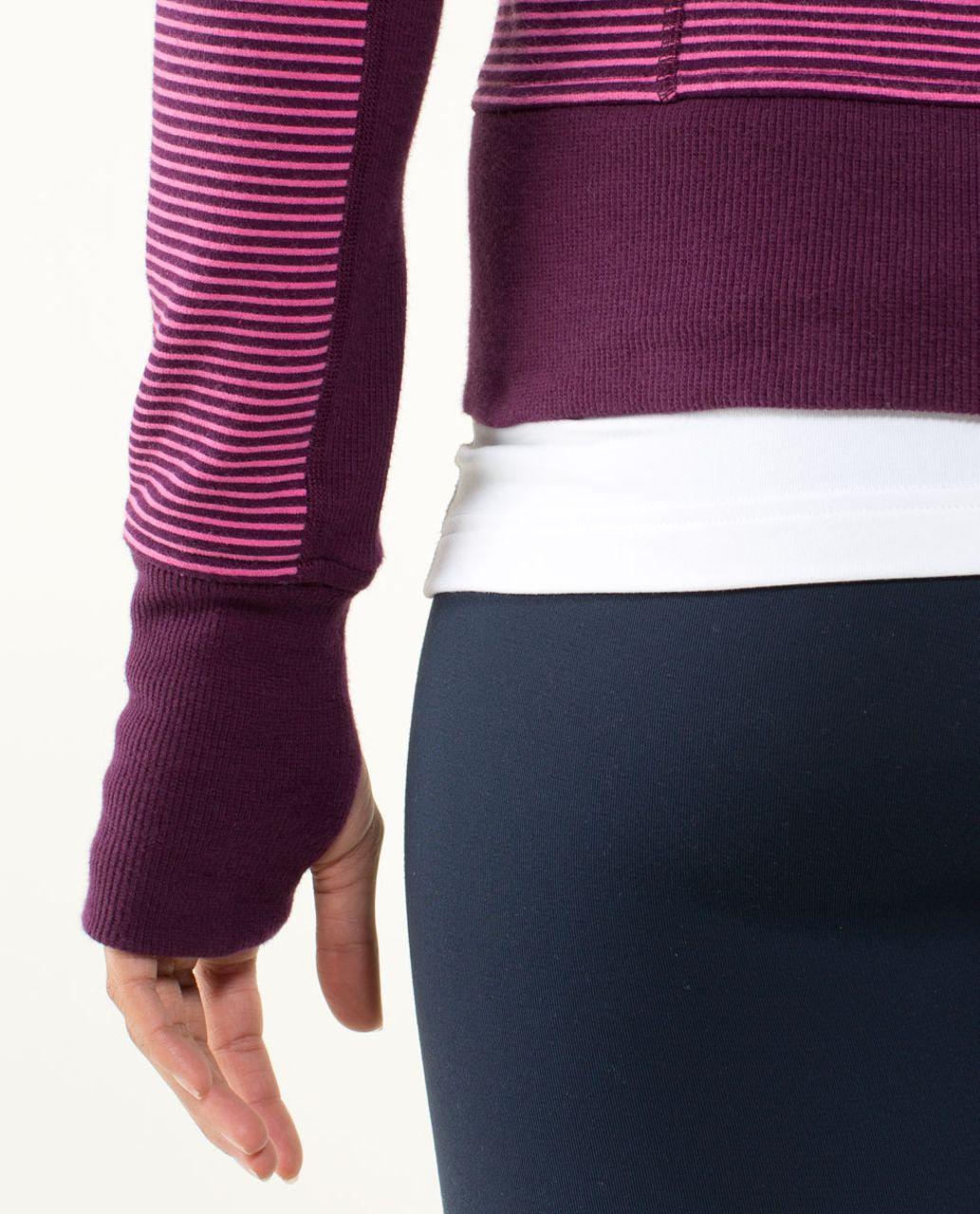 Lululemon Scuba Hoodie *Stretch (Lined Hood) - Hyper Stripe Printed Afterglo / Plum