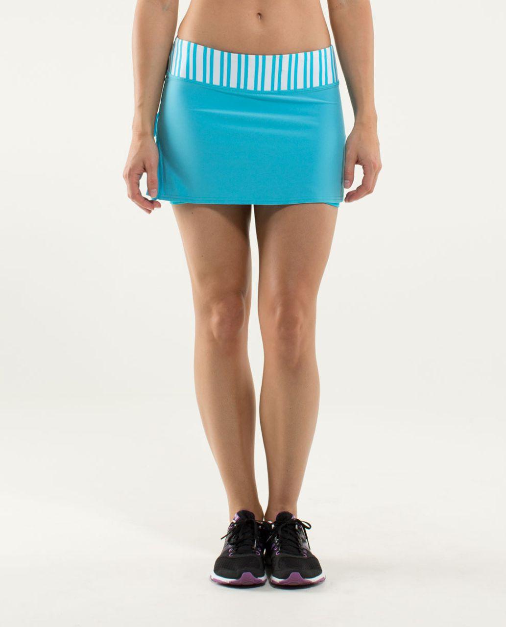 Lululemon Run:  Pace Setter Skirt (Regular) - Spry Blue / Twin Stripe Spry Blue