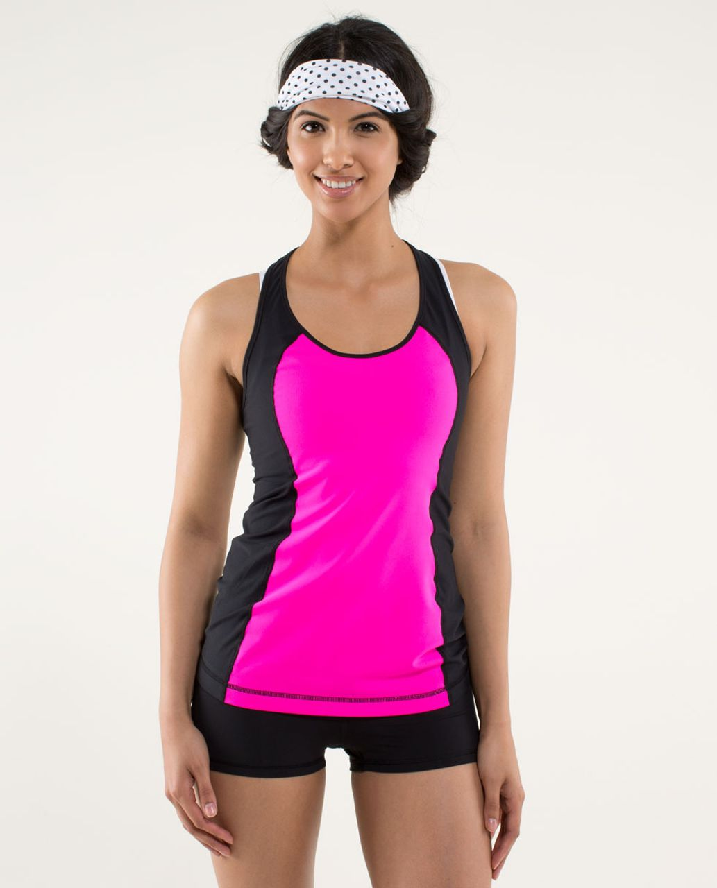 Lululemon Cool Racerback *Mod Waves - Raspberry Glo Light / Black