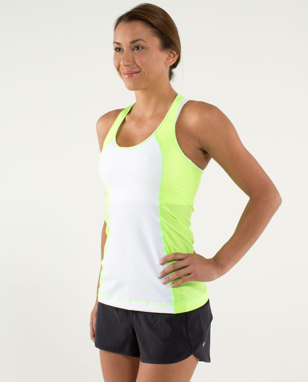 Lululemon Cool Racerback *Mod Waves - White / Zippy Green