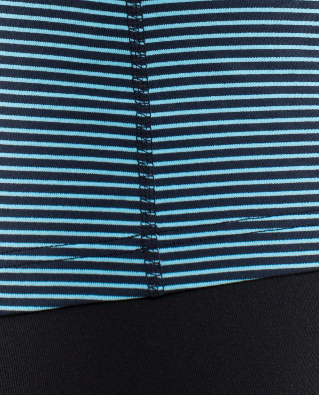 Lululemon Cool Racerback - Hyper Stripe Blue Moon / Inkwell