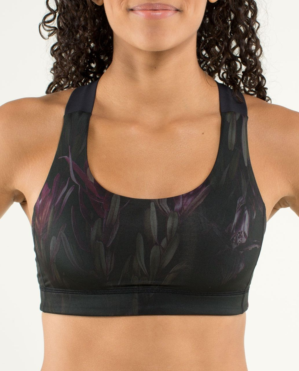 ab8a663bc7 Lululemon All Sport Bra - Midnight Iris Multi   Black - lulu fanatics