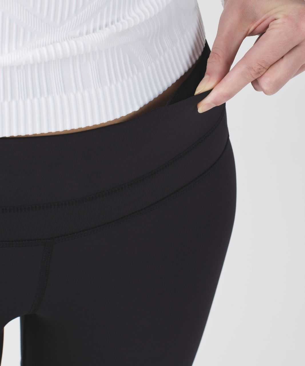 Lululemon Run: Inspire Crop II *Block-It Pocket - Black