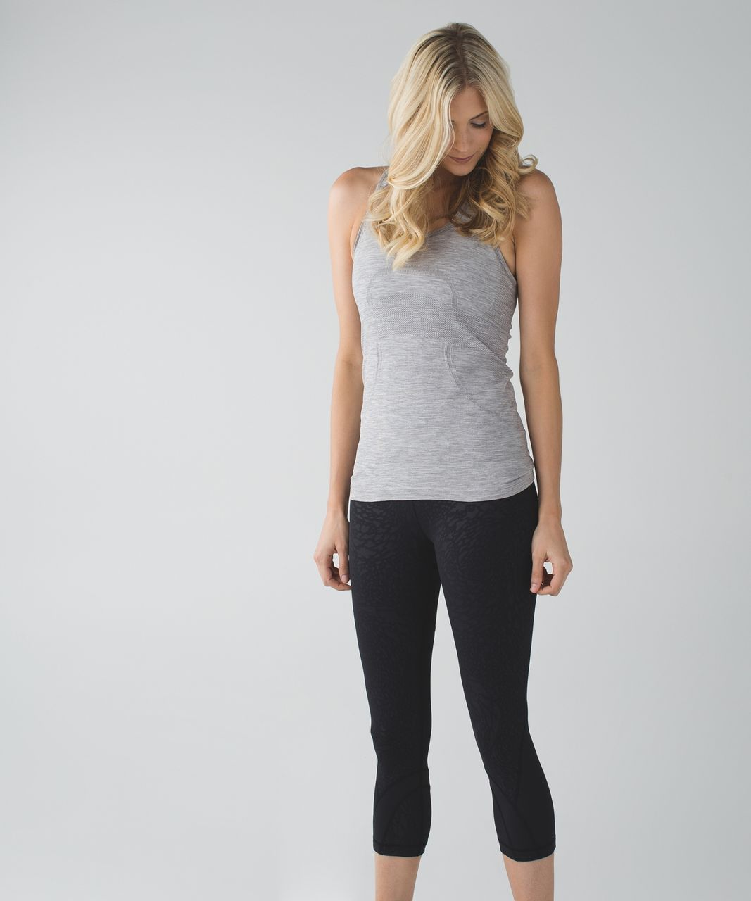 Lululemon Run: Inspire Crop II *Full-On Luxtreme *Block-It Pocket - Watermark Embossed Black