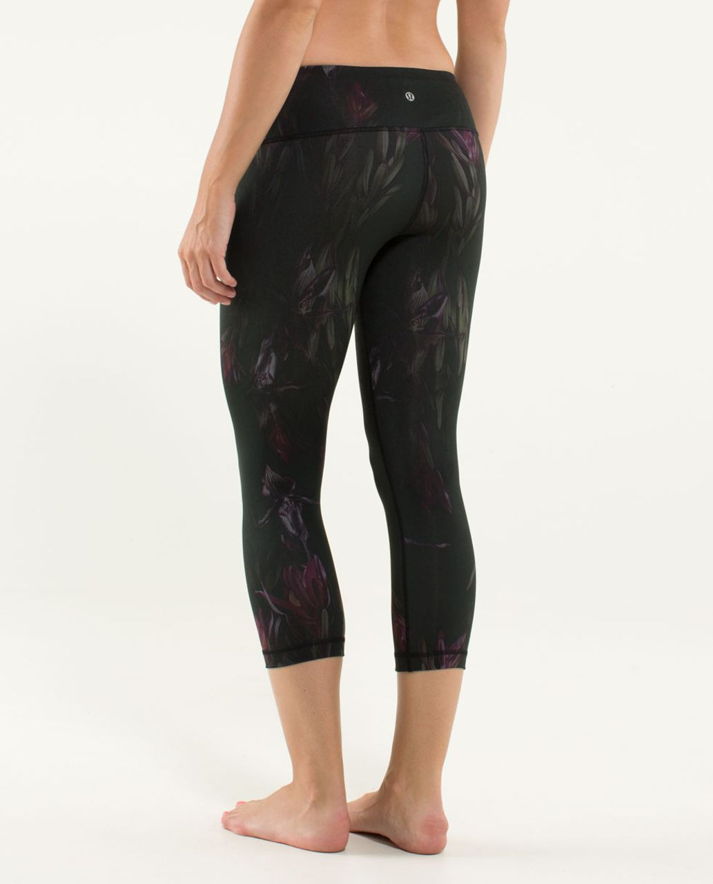 Lululemon Wunder Under Crop - Midnight Iris Multi / Black