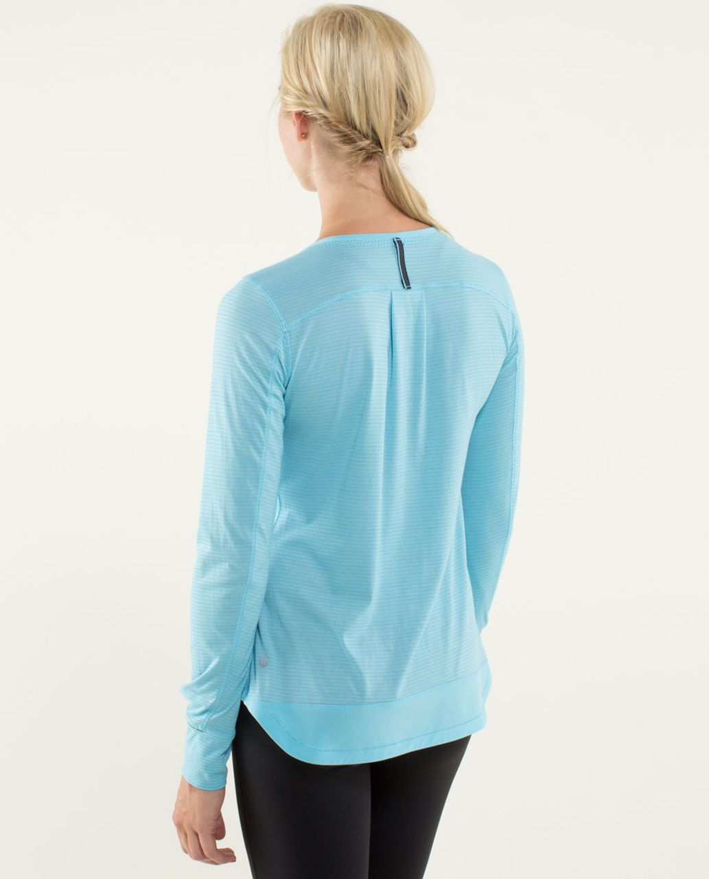 Lululemon Race Me Long Sleeve Heathered Blue Moon Blue Moon