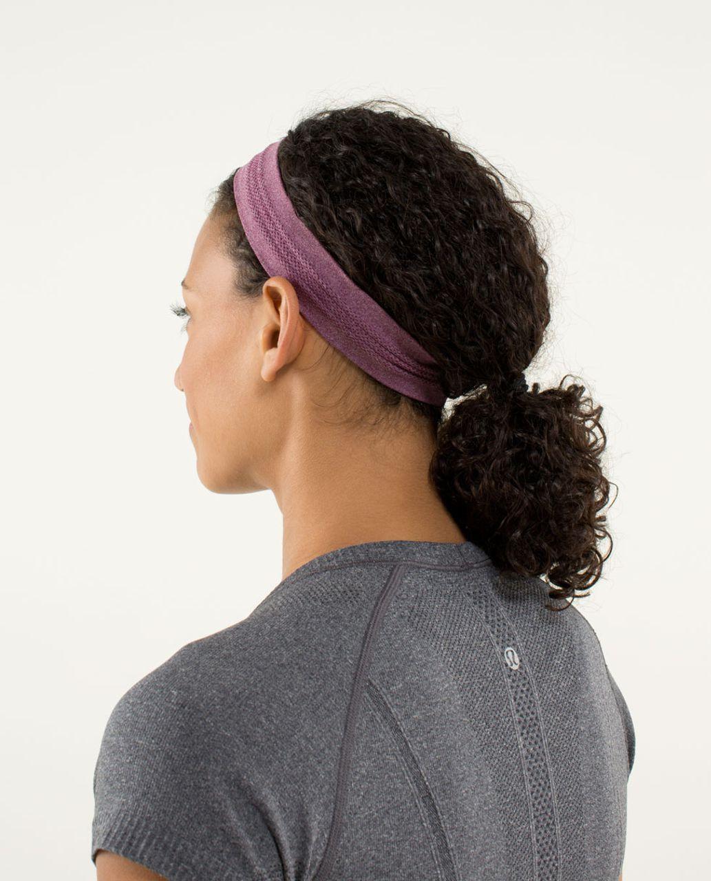 3a2863dc45049 Lululemon Swiftly Headband - Heathered Plum - lulu fanatics