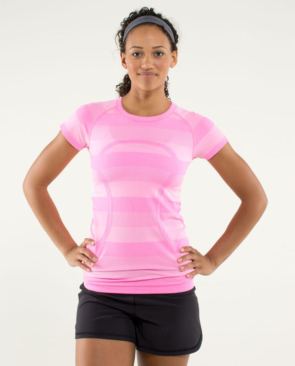 Lululemon Run:  Swiftly Tech Short Sleeve - Heathered Raspberry Glo Light