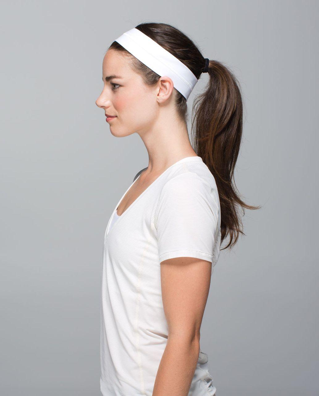 Lululemon Fly Away Tamer Headband - White