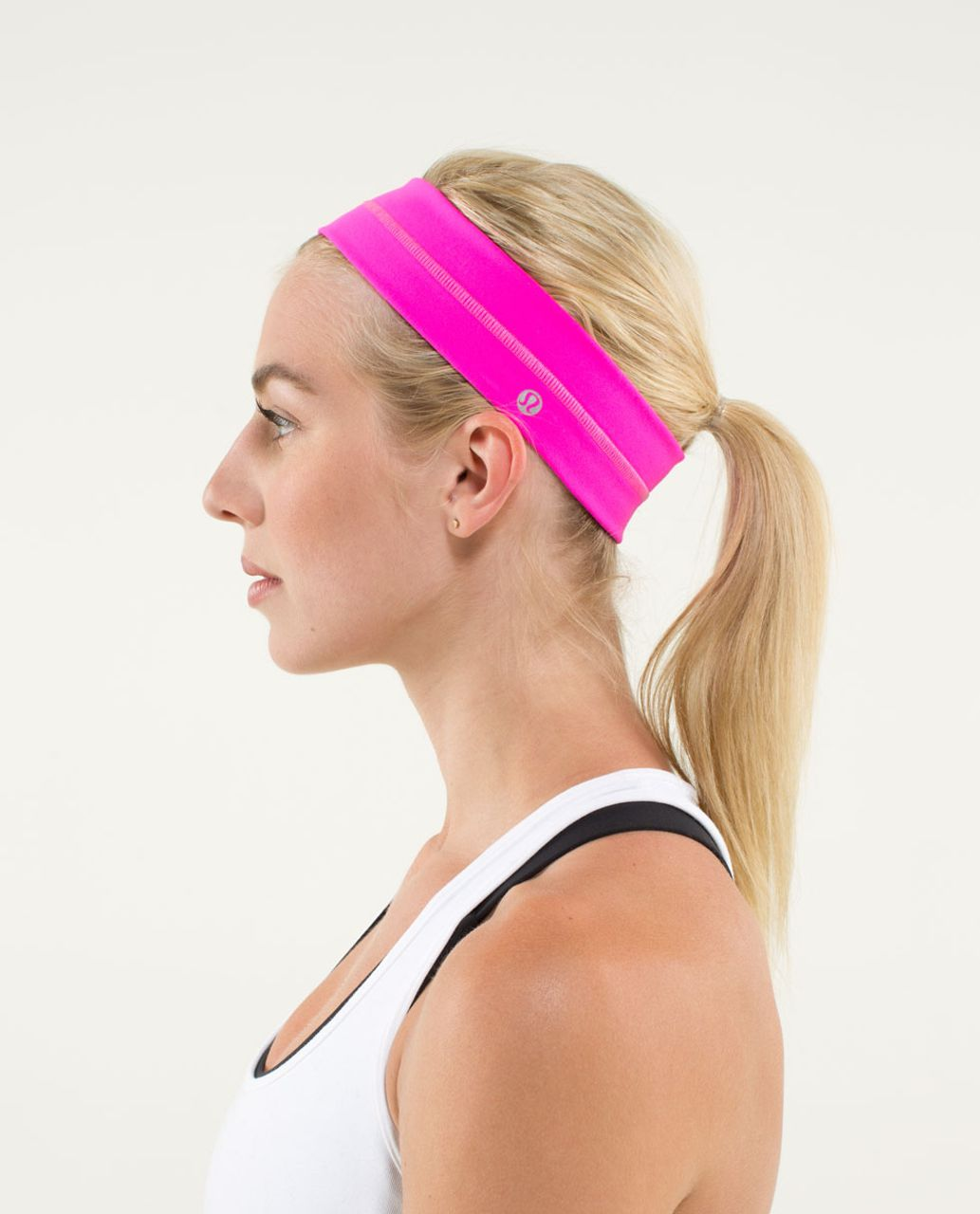 Lululemon Fly Away Tamer Headband - Raspberry Glo Light