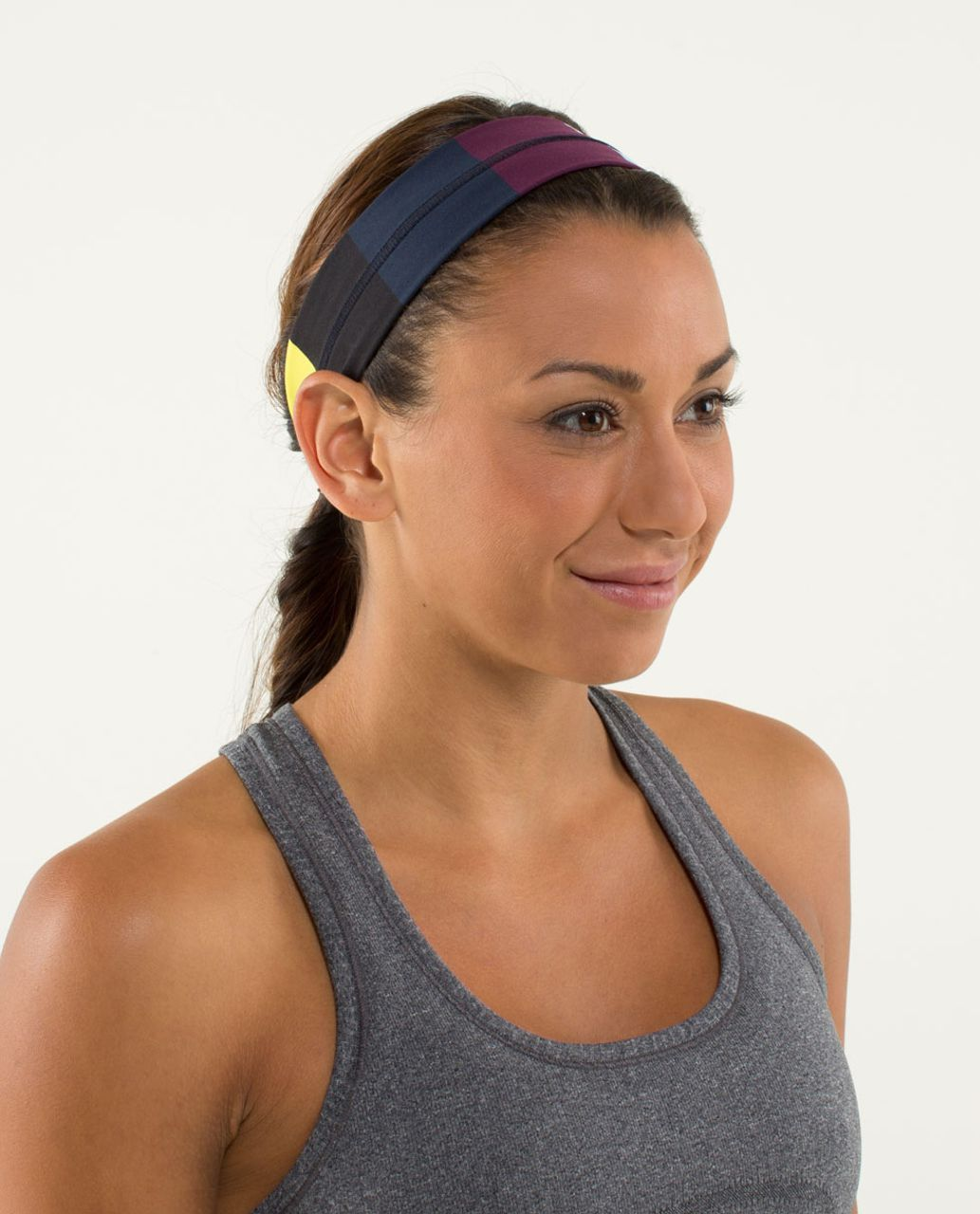 Lululemon Fly Away Tamer Headband - Pow Stripe Split Pea
