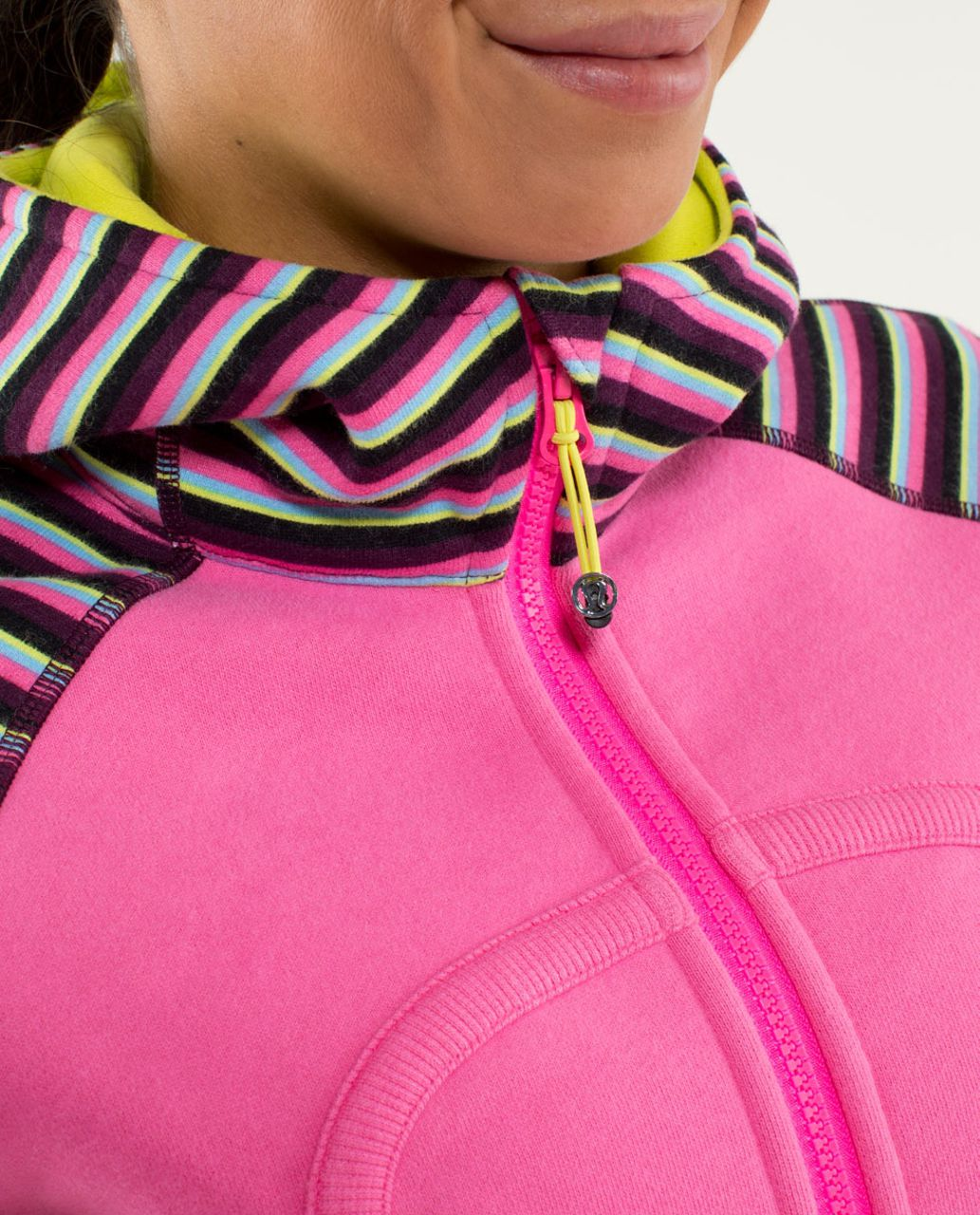 Lululemon Scuba Hoodie *Stretch (Lined Hood) - Afterglo / Cozy Stripe Printed Multi / Split Pea
