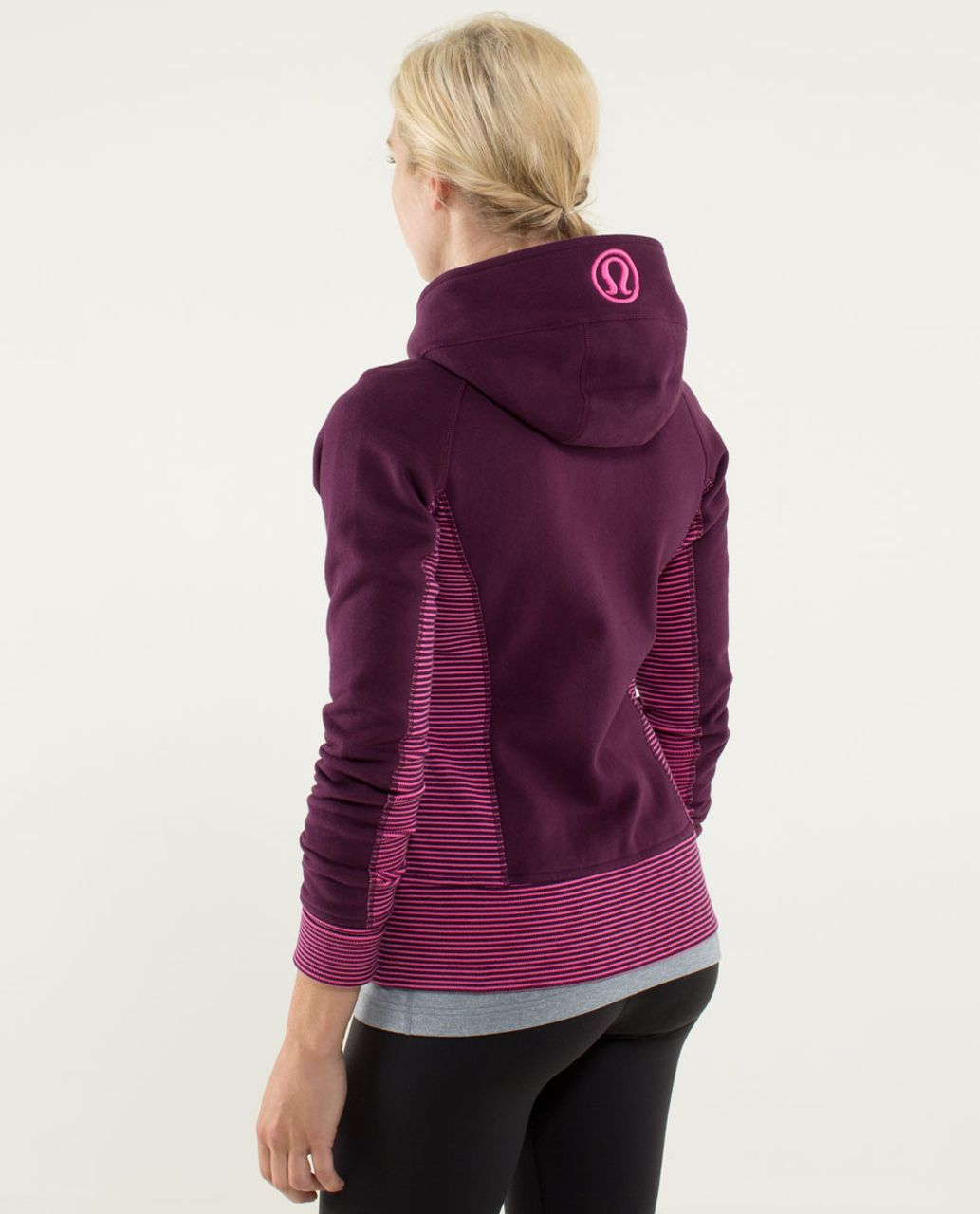 Lululemon Scuba Hoodie *Stretch (Lined Hood) - Plum / Hyper Stripe Printed Afterglo