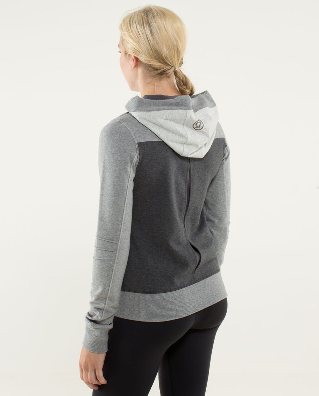 Lululemon Bliss Break Hoodie - Heathered Dark Grey / Heathered ...