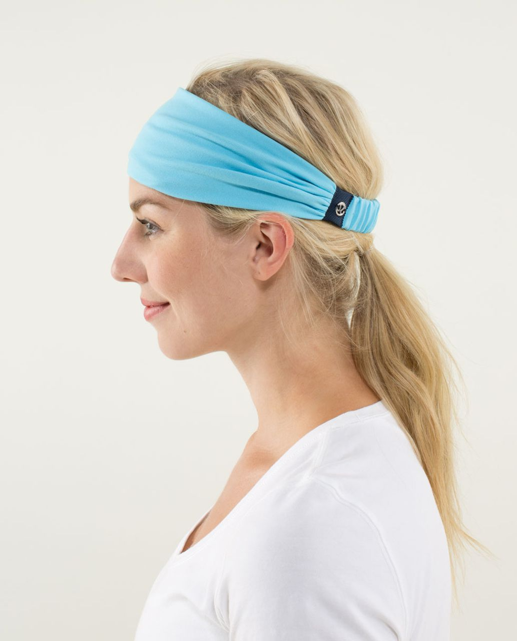 Lululemon Bang Buster Headband *Reversible - Blue Moon / Hyper Stripe Blue Moon