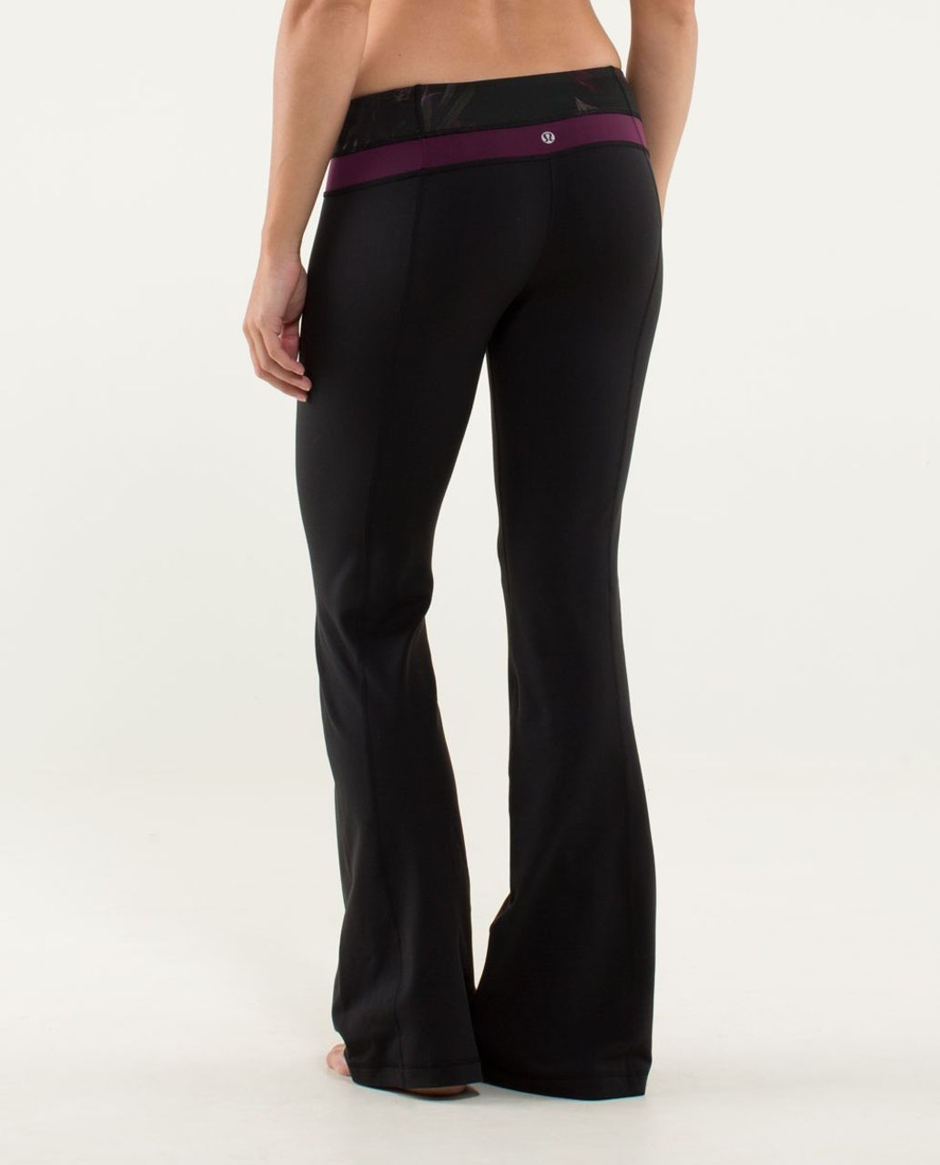 Lululemon Groove Pant (Regular) - Black / Midnight Iris Multi / Plum
