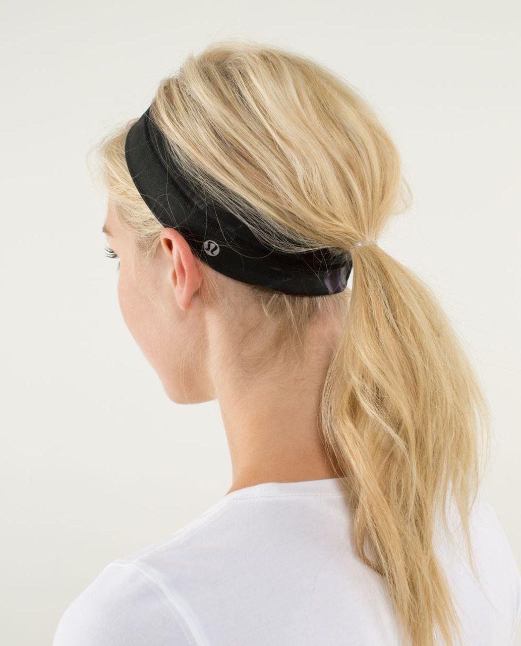 Lululemon Fly Away Tamer Headband - Midnight Iris Multi