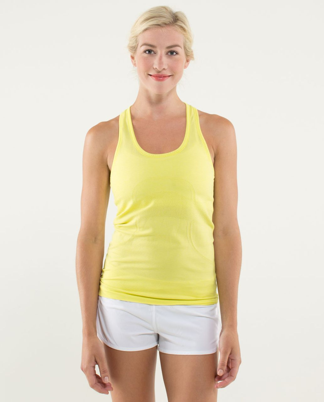 Lululemon Run:  Swiftly Tech Racerback - Heathered Split Pea