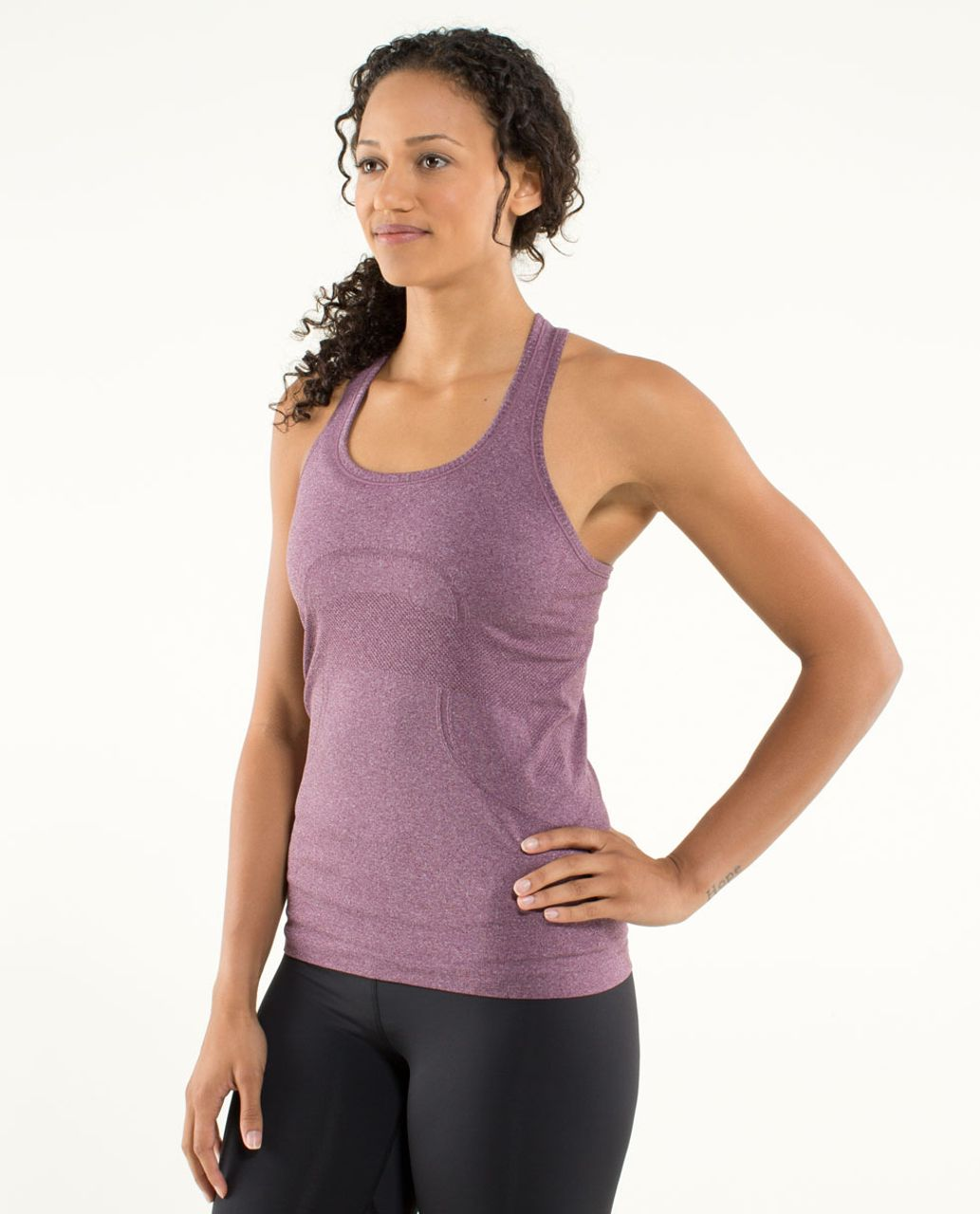 Lululemon Run:  Swiftly Tech Racerback - Heathered Plum