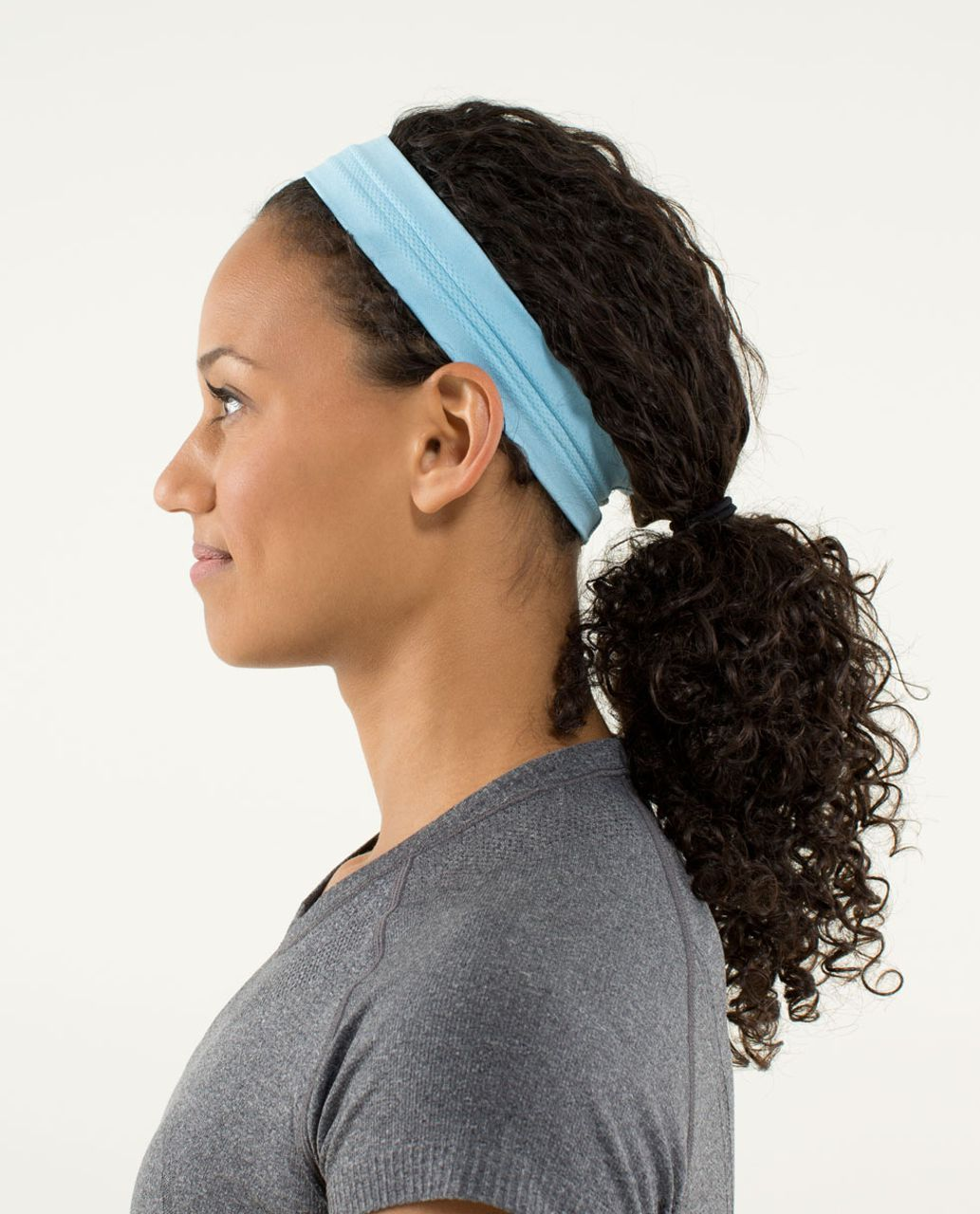 35da9b0f Lululemon Swiftly Headband - Heathered Blue Moon - lulu fanatics
