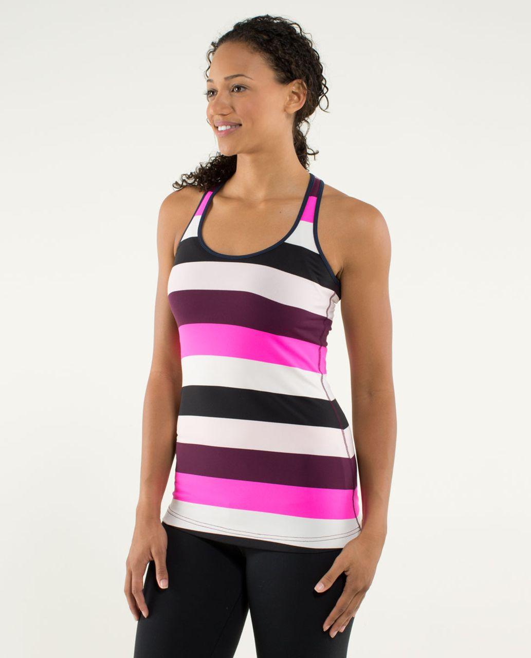 Lululemon Cool Racerback - Pow Stripe Raspberry Glo Light / Inkwell