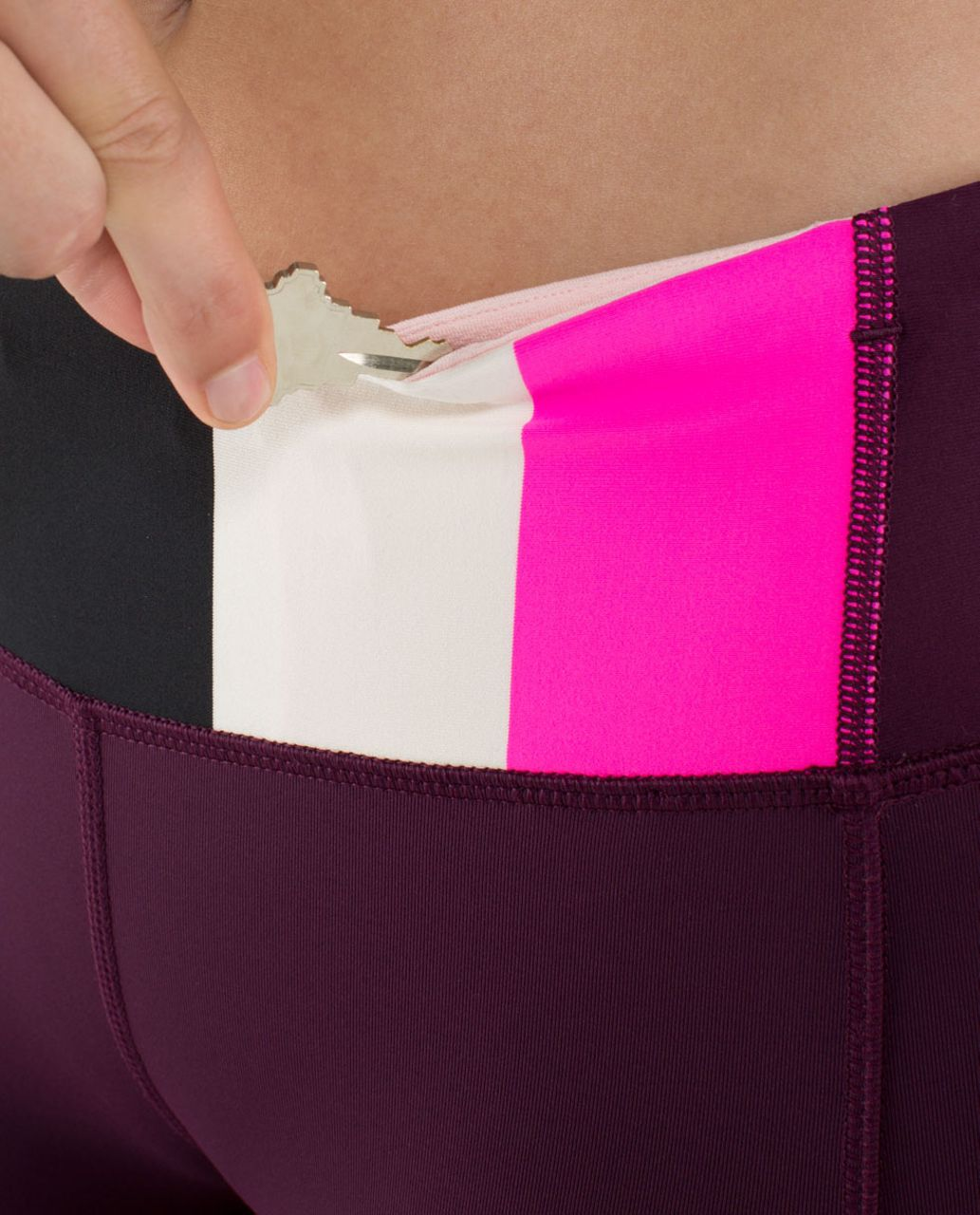 Lululemon Speed Tight *Luxtreme - Plum / Pow Stripe Raspberry Glo Light / Pretty Pink