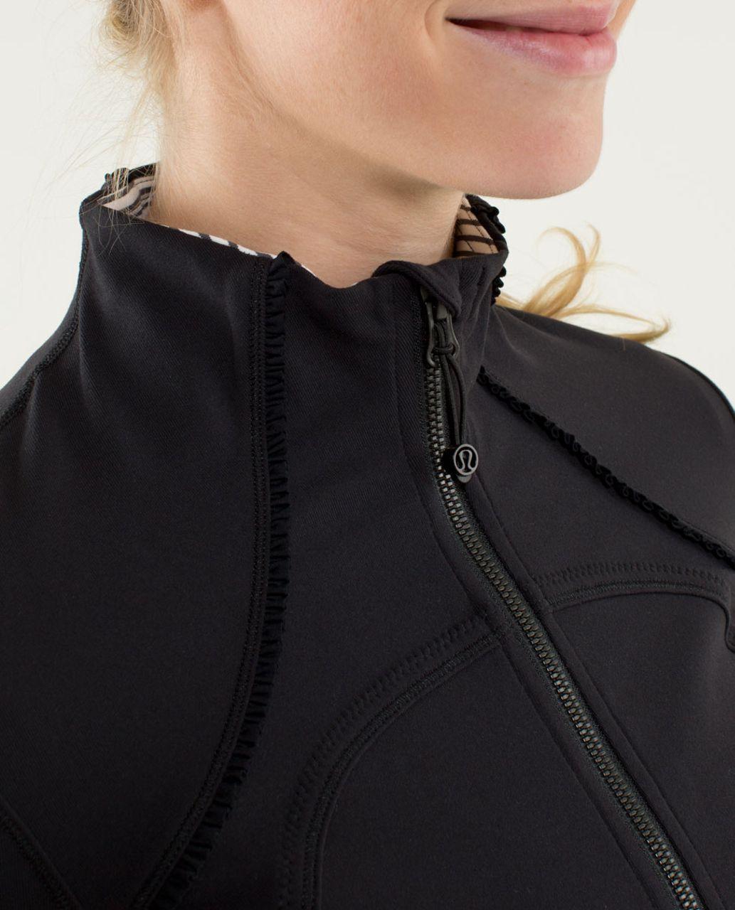 Lululemon Forme Jacket *Ruffled Up - Black / Hyper Stripe Angel Wing