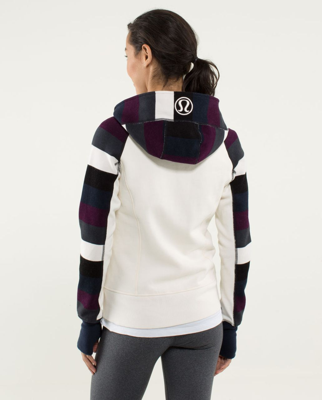 Lululemon Scuba Hoodie *Stretch (Lined Hood) - Angel Wing / Pow Stripe Printed Angel Wing / Inkwell