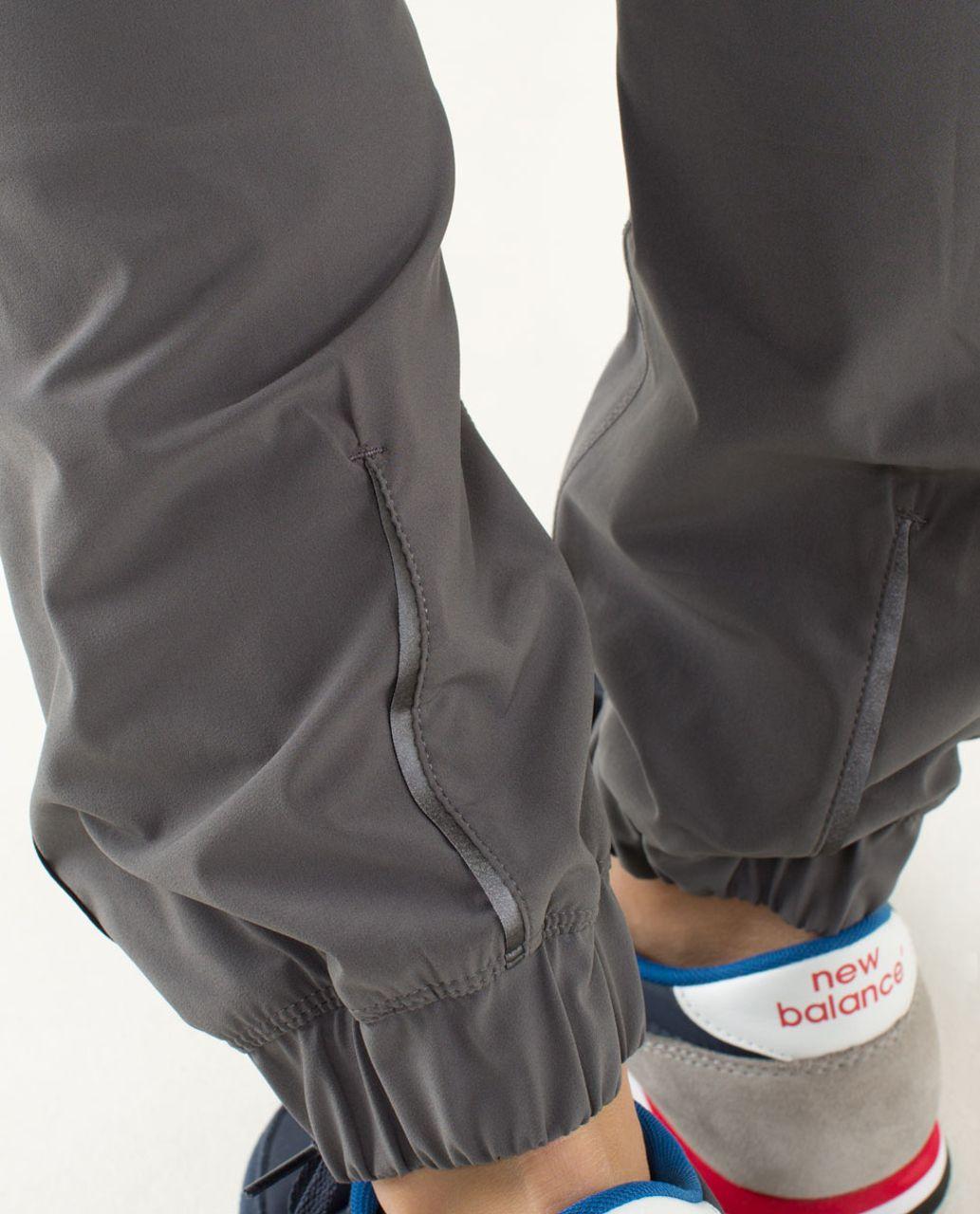 Lululemon Track To Reality Pant - Soot Light / Black / Slalom Stripe Angel Wing
