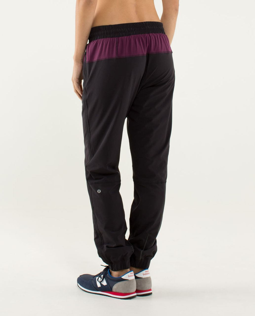 Lululemon Track To Reality Pant - Black / Plum / Split Pea
