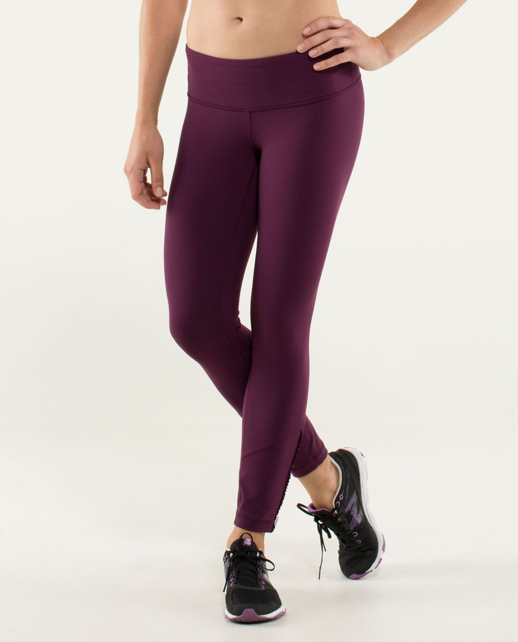 Lululemon Wunder Under Pant *Ruffled Up - Plum / Hyper Stripe Raspberry Glo Light