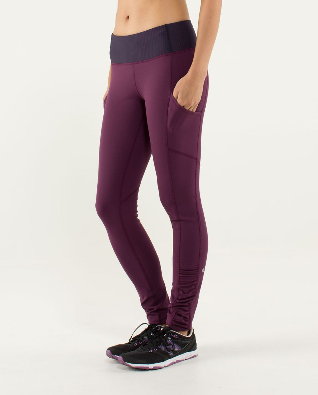 Lululemon Speed Tight *Cozy - Plum / Hyper Stripe Plum