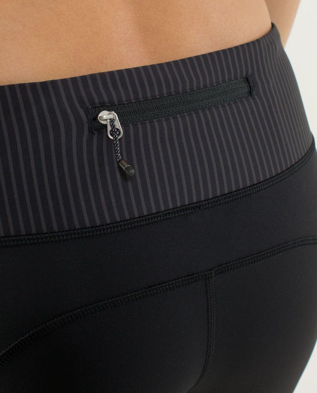 Lululemon Speed Tight *Cozy - Black / Hyper Stripe Black